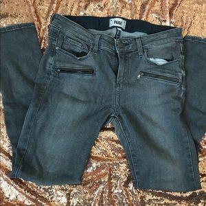 Paige Jane Zip Gray Jeans Sz 29